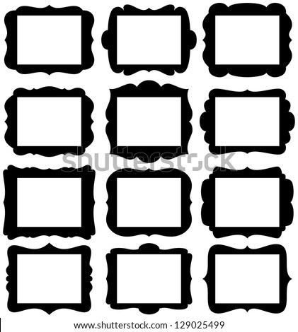 vector set of frame silhouettes in with 85 x 11 proportion openings