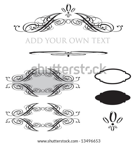 Vector set of frames with space for your company name or other text - stock vector