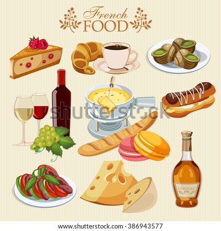French cuisine stock images royalty free images vectors - Cuisine made in france ...