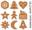 vector set of gingerbread cookies - stock vector