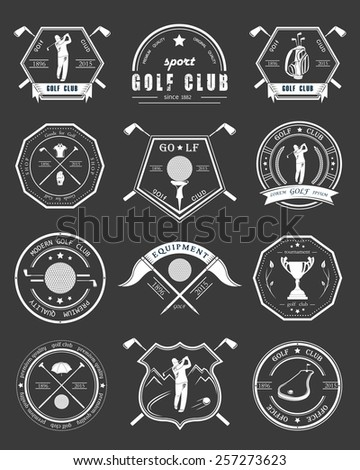 Golf Logo Stock Photos, Royalty-Free Images & Vectors ...