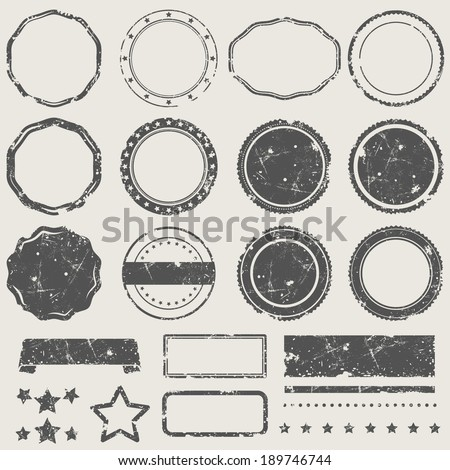 Vector set of grunge empty stamps  - stock vector