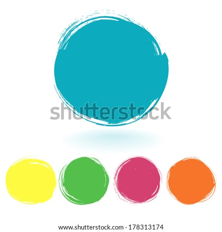 Vector set of grunge paint stains. Abstract watercolor design elements for your projects. Vector illustration/ EPS 10 - stock vector