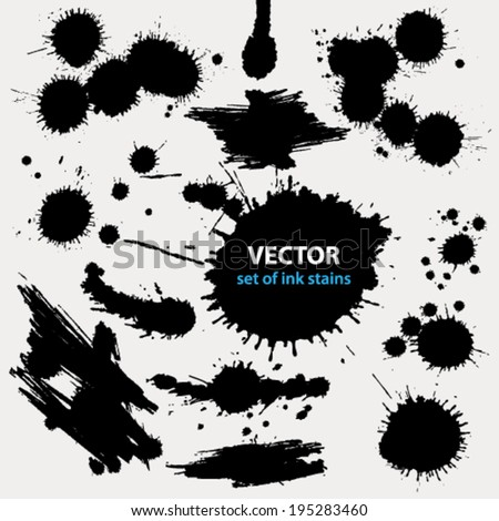 Vector set of grunge stains background textures - stock vector
