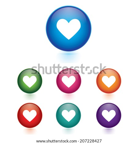 Vector - Set of heart icons