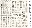 Vector set of icons and labels - stock vector