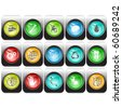 Vector set of internet buttons - stock vector