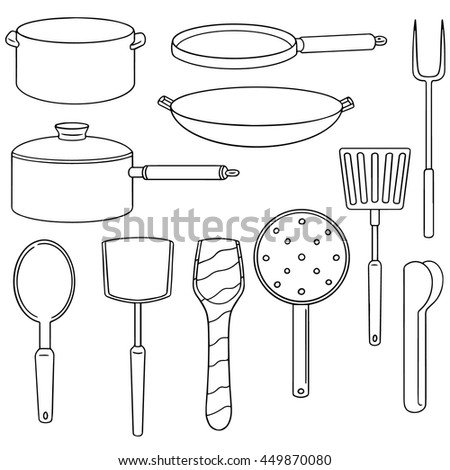 vector set of kitchen tool