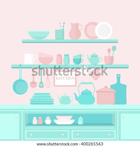 nautical kitchen utensils dasha efremovas portfolio on shutterstock