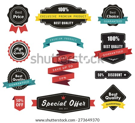 Vector set of Labels, Banners Ribbons and Stickers./Vector set of Labels, Banners Ribbons and Stickers/Vector set of Labels, Banners Ribbons and Stickers - stock vector