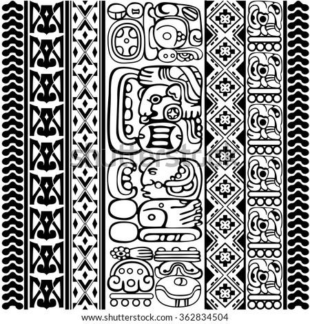 mayan pattern stock images royaltyfree images amp vectors