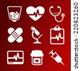 Vector set of medical icons - stock vector