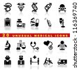 vector set of medical icons and symbol - stock vector