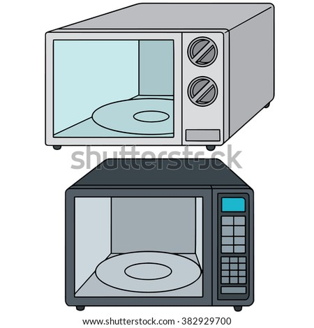 microwave clipart. vector set of microwave oven clipart