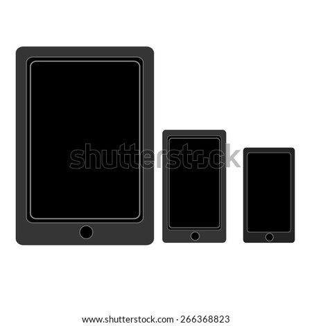 vector set of modern tablet and mobile phone