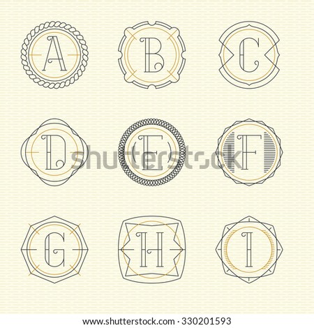 Decorative letter f stock images royalty free images for Free monogram template