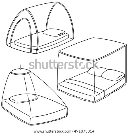 net clipart black and white. vector set of mosquito net clipart black and white 2