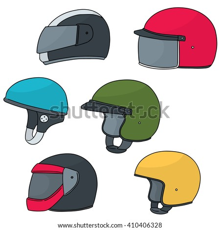 Vector Set Motorcycle Helmet Stock Vector 328658804 ...