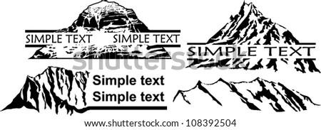 Vector Set of Mountains Emblem - stock vector