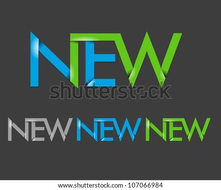 vector set of new text design element. - stock vector
