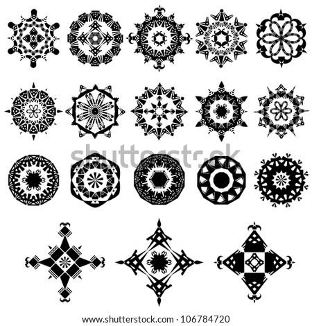 Vector set of ornate design elements - stock vector
