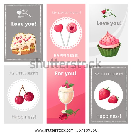 Vector set posters on theme holiday stock vector 567189550 vector set of posters on the theme of the holiday greetings to loved ones print m4hsunfo