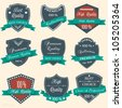 Vector set of Premium Quality labels - stock vector