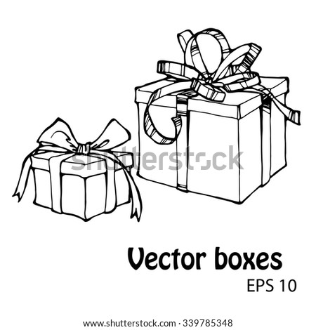 vector set of presents or gift boxes