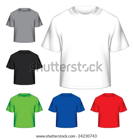 Vector set of ready t-shirts