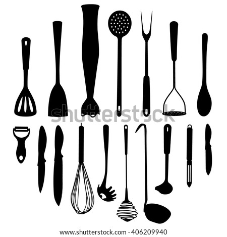 Kitchen tools stock images royalty free images vectors for Kitchen set vector