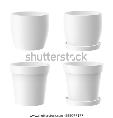 229 & White Plant Pot Isolated Stock Images Royalty-Free Images \u0026 Vectors ...