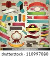 Vector Set of Retro Ribbons and Labels. Graphic Design Editable For Your Design.  - stock vector