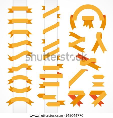 Vector set of ribbons - stock vector