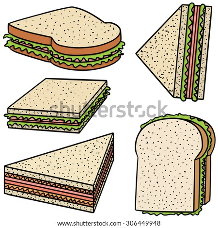 vector set of sandwich - stock vector
