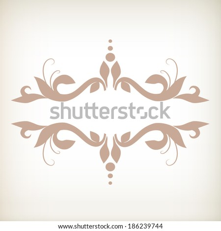 Vector set of scrolls and vignettes in Victorian style. - stock vector
