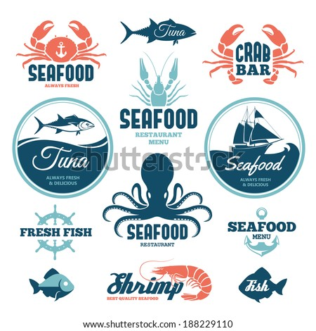 Seafood stock images royalty free images vectors for Fresh fish company menu