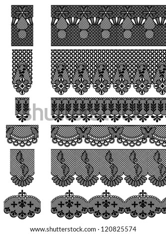 Vector Set of Seamless Lace Patterns