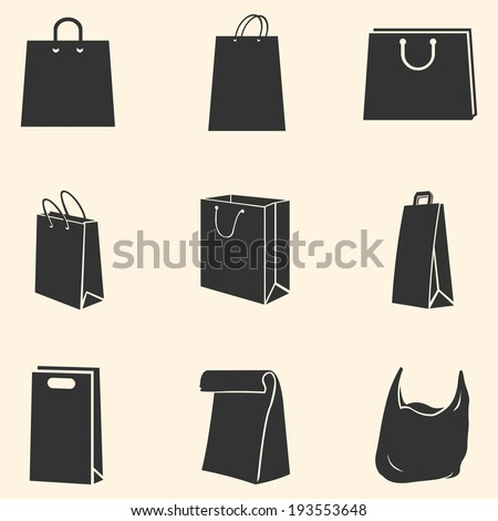 Vector Set of  Shopping Bags - stock vector