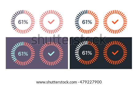 Vector set of simple loading icons on white background