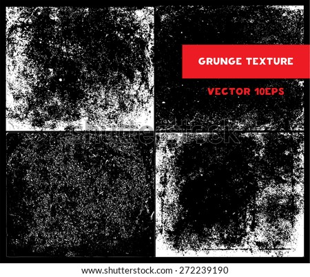 Vector Set of Sketch Grunge Dirt Overlay Texture (individual objects). Abstract Design Elements to Create Grungy Effect for your Projects. Vector illustration. EPS 10 - stock vector