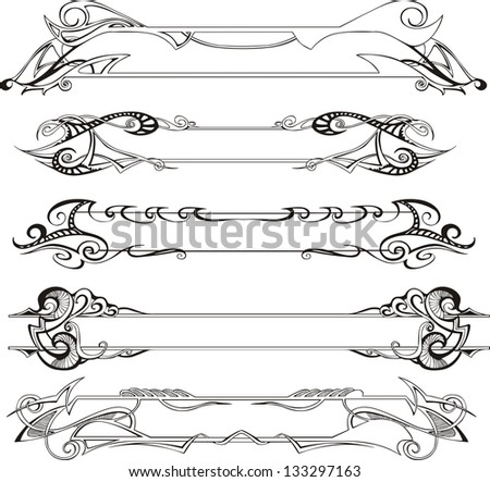 Vector set of slim decorative frames