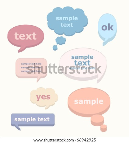 Vector set of  Speak bubbles - stock vector