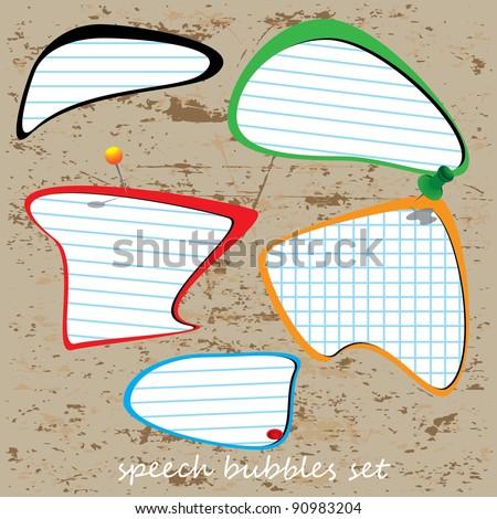 Vector set of speech bubbles - stock vector