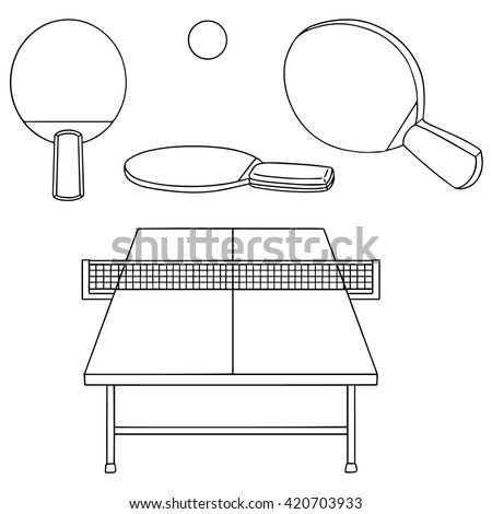 Vector Set Tabletennis Stock Vector 420703933 Shutterstock