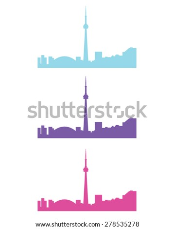 Vector set of the Toronto skyline - stock vector