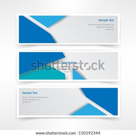 Vector set of three header designs business  - stock vector