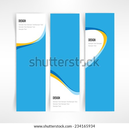 Vector set of three header designs business - stock vector