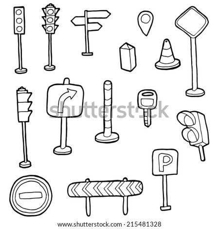 vector set of traffic icon - stock vector