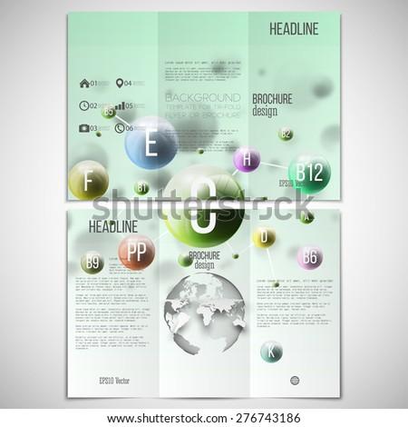 vector set trifold brochure design template stock vector 276743186