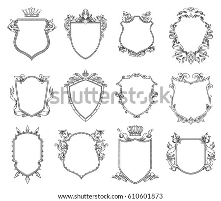 Heraldry Images RoyaltyFree Images Vectors – Coat of Arms Template